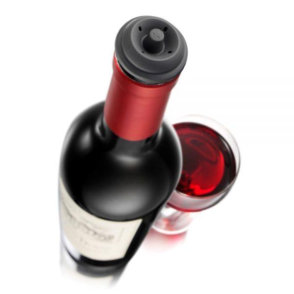 Vacu Vin Wine Saver Black Gift Pack (1 Pump, 2 Wine Stoppers)